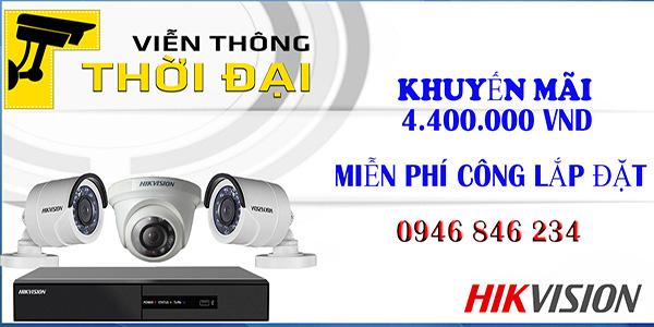 Khuyến mãi lắp đặt trọn bộ 3 camera hikvision giá rẻ tại tphcm