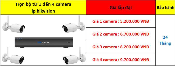 Trọn bộ camera ip wifi không dây kbvision