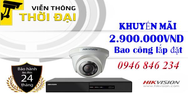 Trọn bộ 1 camera hikvision 2Megapixel