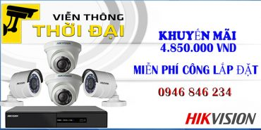 Trọn bộ 4 camera hikvision giá rẻ 2mp