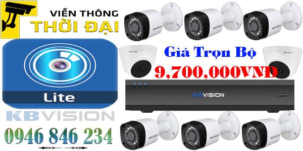 Lắp đặt trọn bộ 8 camera kbvision giá rẻ 2mp