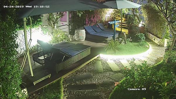 Hình ảnh camera lúc 19h tối