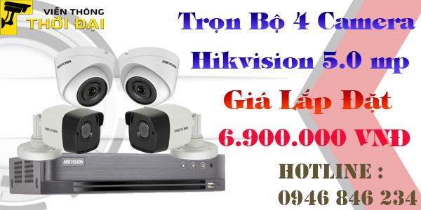 Bảng giá lắp đặt bộ camera hikvision 5mp