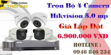 Bộ 4 camera hikvision 5mp