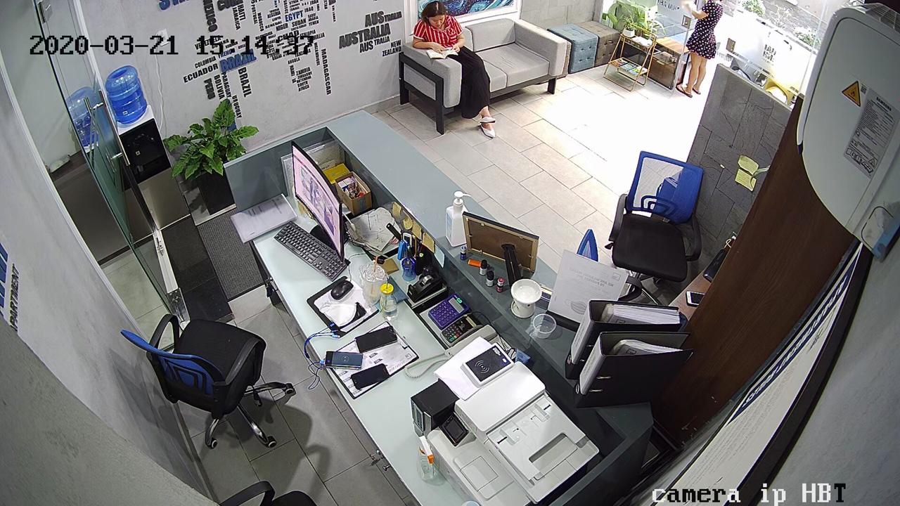 Hình ảnh lắp camera wifi cho văn phòng