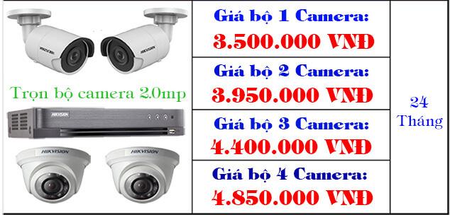 Trọn bộ 1 - 4 camera giá rẻ tphcm