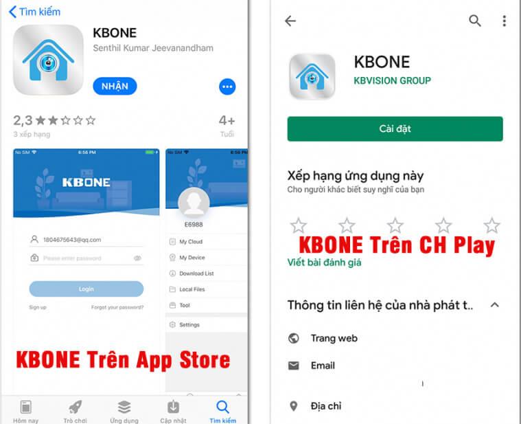 Tải ứng dụng KBONE về điện thoại