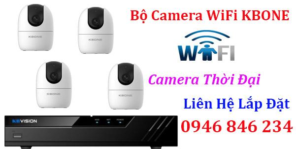 Trọn bộ camera Wifi sử dùng đầu ghi hình