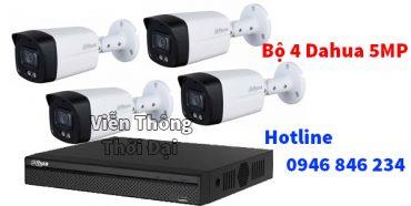Lắp đặt bộ 4 camera hdcvi dahua 5MP
