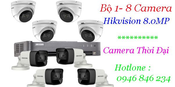 Lắp đặt trọn gói hikvision 8mp