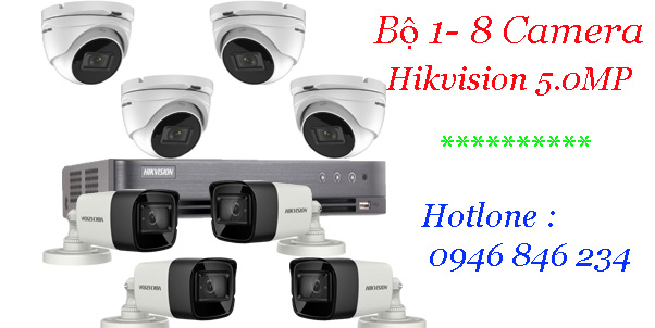 Bảng giá gói camera giám sát hikvision 5Mp